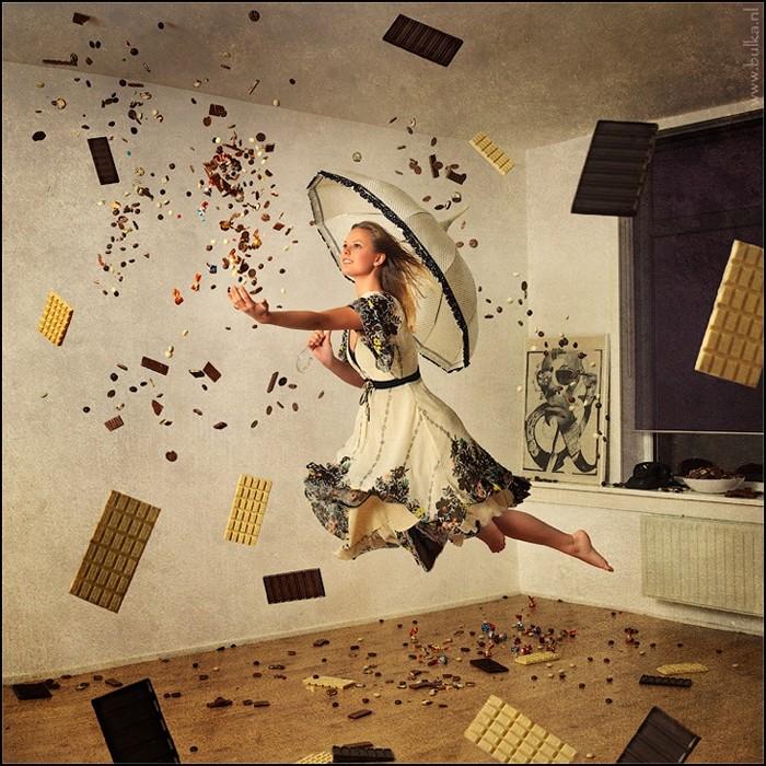 Креативная фотосессия парящих над хаосом людей от Марии Нецунски (Maria Netsounski)