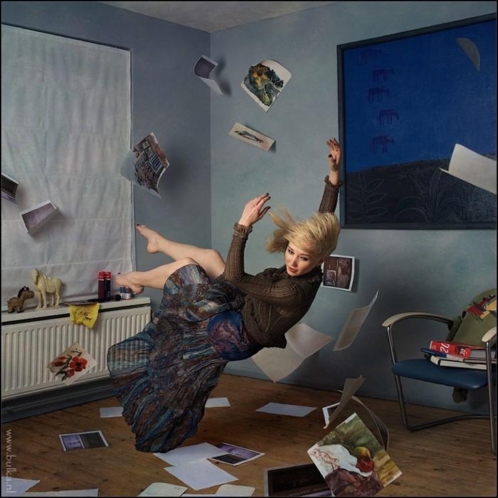 Passion Dream In-Flight, позитивная серия фотографий российско-голландской фотохудожницы