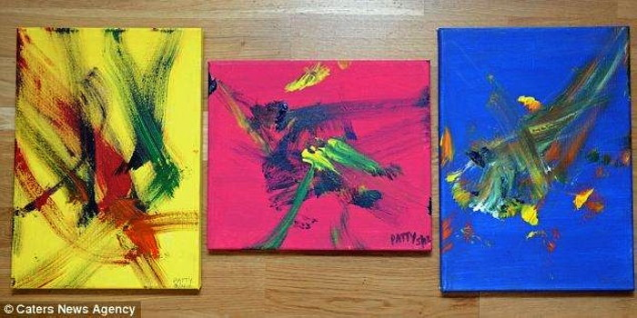 Картины осла, умеющего рисовать, стоят около €125