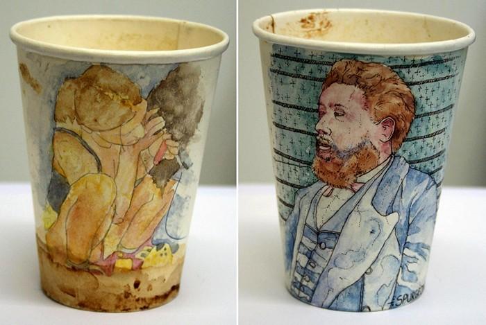 Проект Coffee Cups Пола Весткомба, рисунки на одноразовых стаканчиках