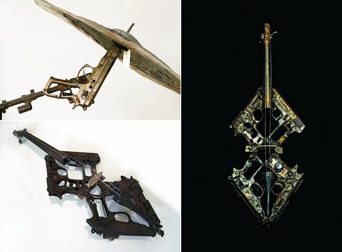 Музыкальные инструменты, озданные из огнестрельного оружия. Арт-проект Педро Рейеса (Pedro Reyes)