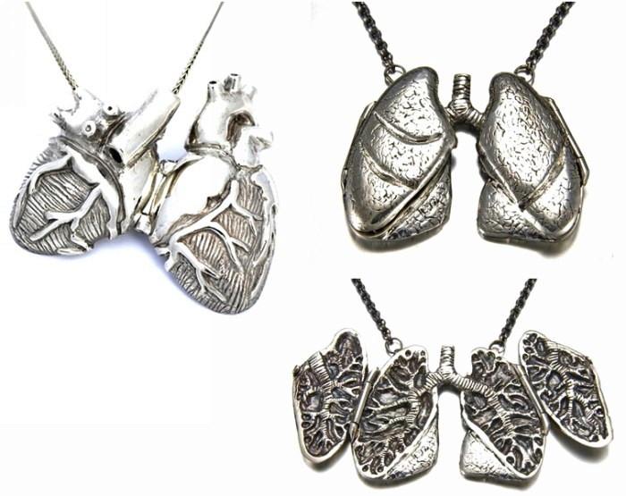 Тентакли и внутренности: серия необычных украшений из серебра от Пегги Скемп