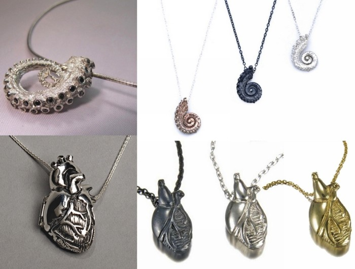 Тентакли и внутренности: необычные украшения из серебра