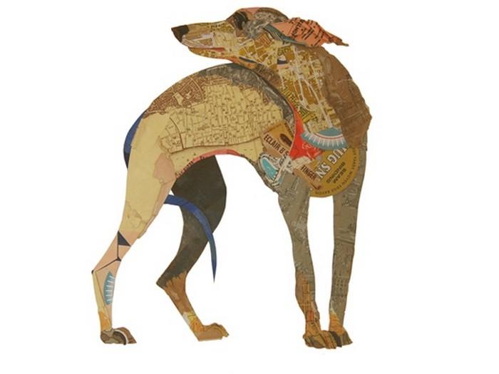 Собаки-коллажи  творчестве Питера Кларка (Peter Clark)
