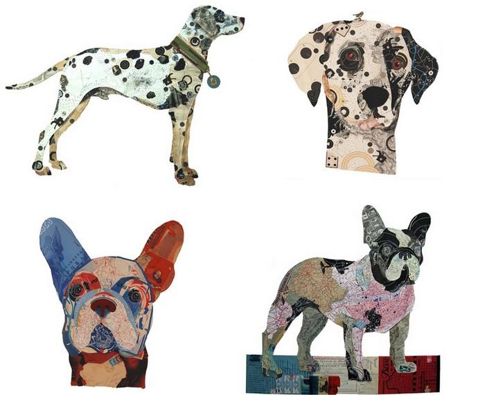 Собаки-коллажи творчестве