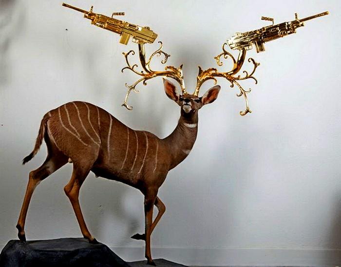 Животные тоже умеют защищаться. Удивительные скульптуры Питера Гронквиста (Peter Gronquist)