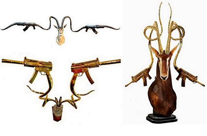 Скульптуры Питера Гронквиста (Peter Gronquist), вооруженные рогами