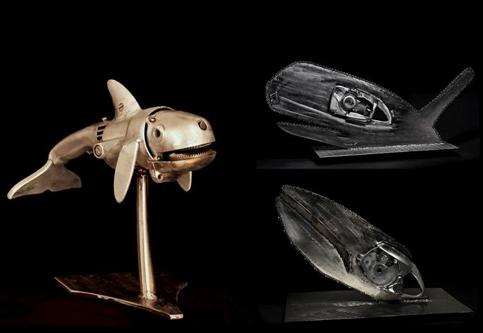 Скульптуры Питера МакФарлейна (Peter McFarlane) из металлических отходов и мусора