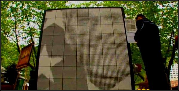 Портрет Джорджа Буша из солдатских имен