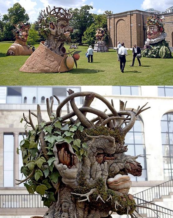 Оригинальные скульптуры Филиппа Хааса (Philip Haas), посвященные временам года