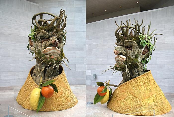 Зима. Скульптура Филиппа Хааса (Philip Haas) из серии The Four Seasons