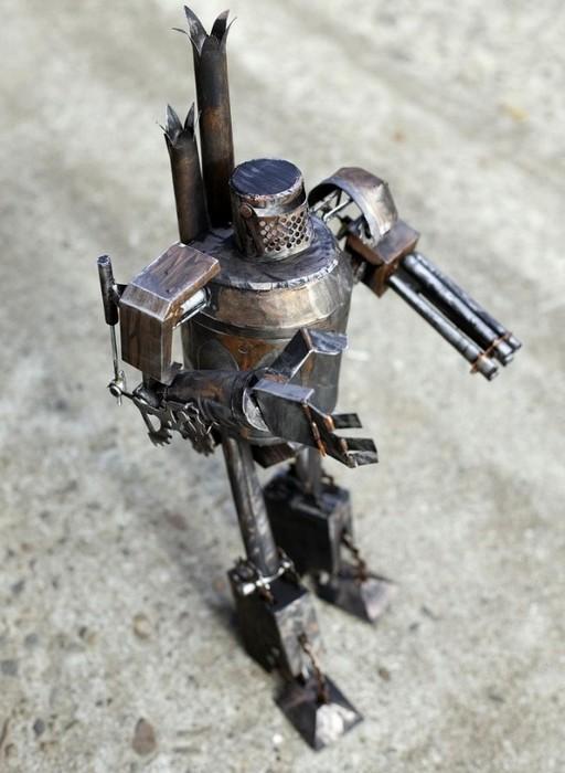 Стальные steampunk-скульптуры из обыкновенной бумаги, работы Филиппа Валдеза