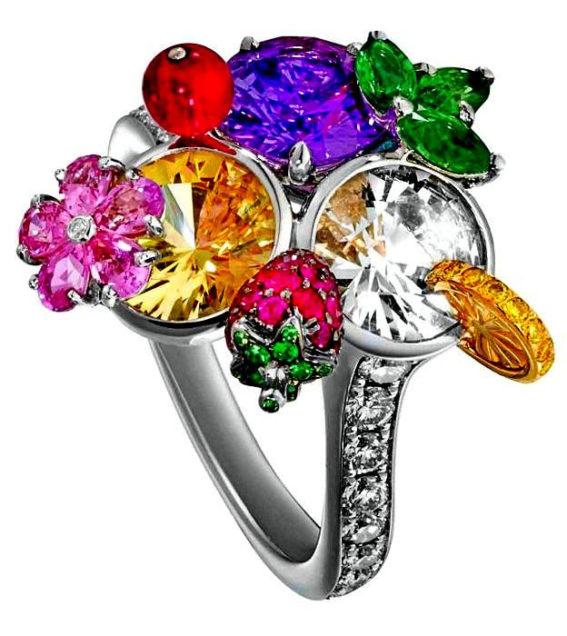 Limelight Cocktail rings. Удивительные драгоценные кольца от компании Piaget