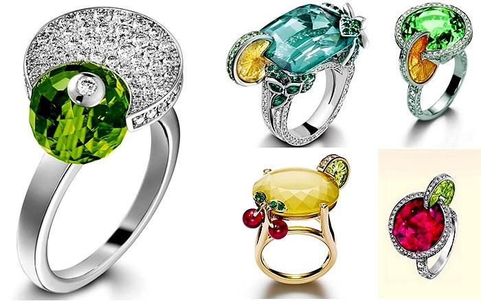 Limelight Cocktail rings. Коктейльные кольца от компании Piaget