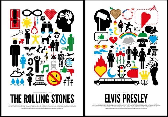 Pictogram Rock Posters, серия музыкальных плакатов в пиктограммах