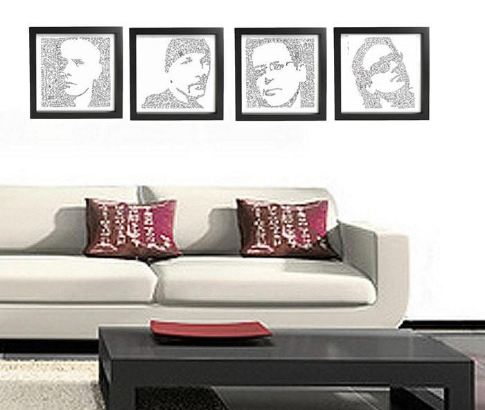 Портреты знаменитостей, нарисованные одной сплошной линией