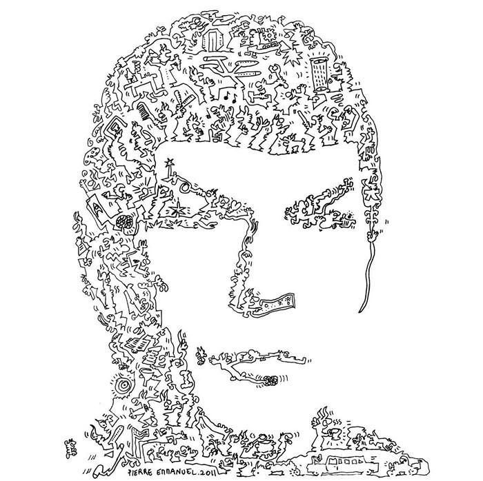 Спок. Портрет из каракулей от Pierre Emmanuel Godet