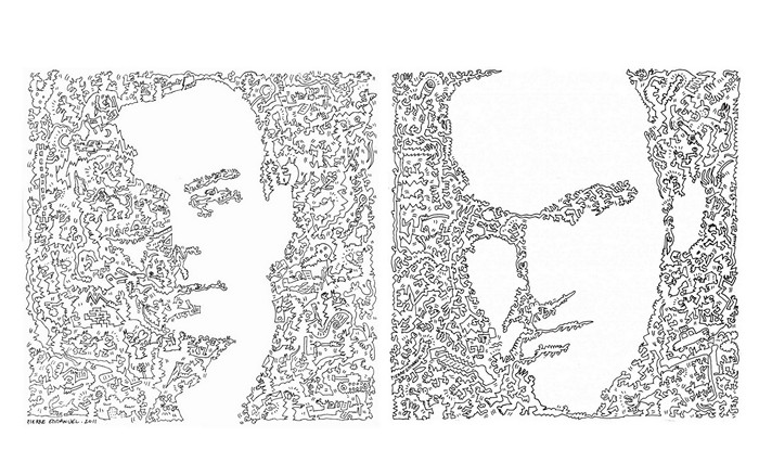 Экзюпери и Тарантино. Портреты одной сплошной линией