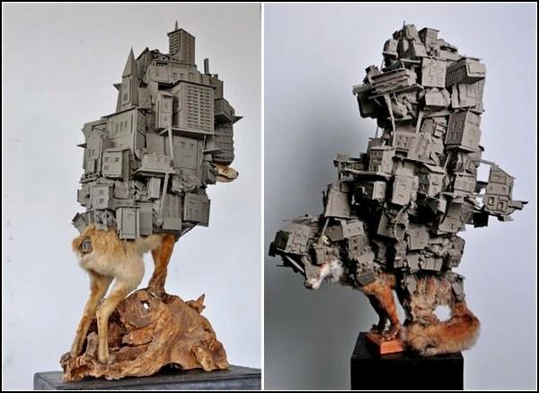Животные и цивилизация. Злободневные скульптуры Пима Палсграафа (Pim Palsgraaf)