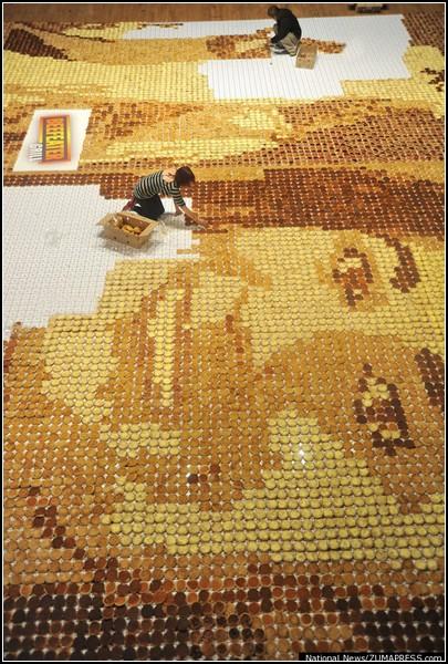 Портрет Пиппы Мидлтон из 15000 пончиков