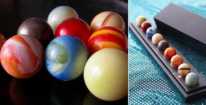 Planetary Chocolate, набор шоколадных конфет в виде планет Солнечной системы