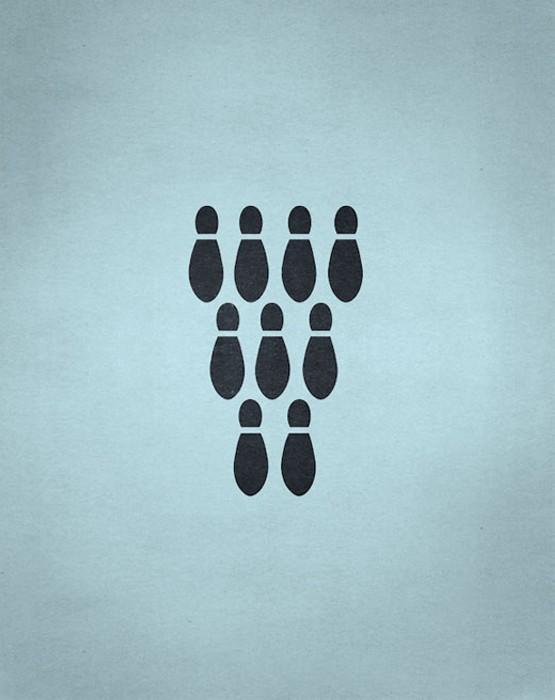Отпечатки ног или боулинг? Игровой арт-проект Point of View от Фабио Д'Алтилья