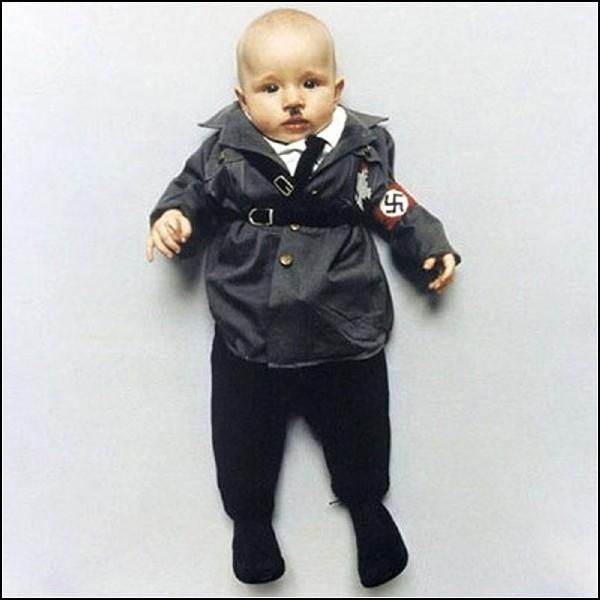 Быть может, таким малышом был когда-то и  Адольф Гитлер