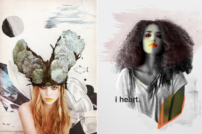 Коллаж из модных журналов