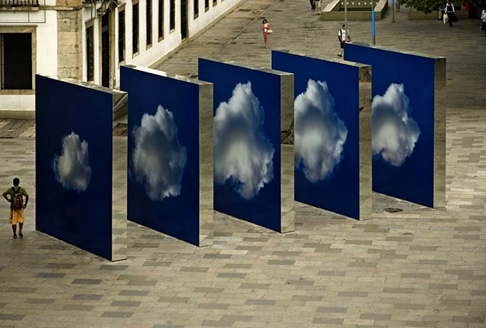 Инсталляция  Projecto Nuvem: прогулка среди облаков