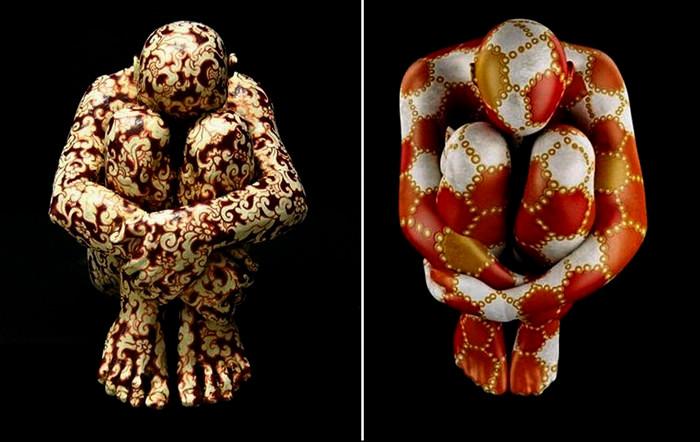 Скульптуры-йоги Паолы Епифани, aka Rabarama