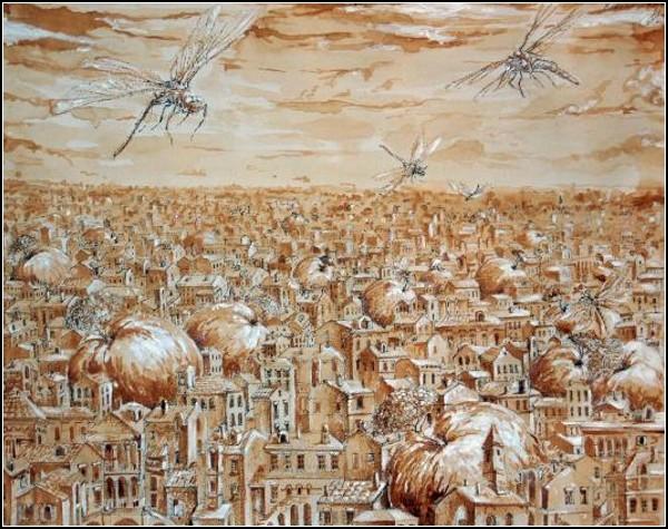 Кофейно-чайные картины Радислава Дзюбы