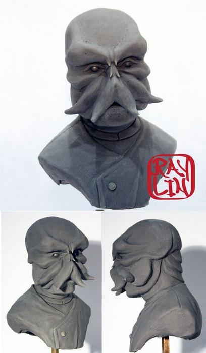 Зойдберг собственной персоной. Скульптура от Ray Lin