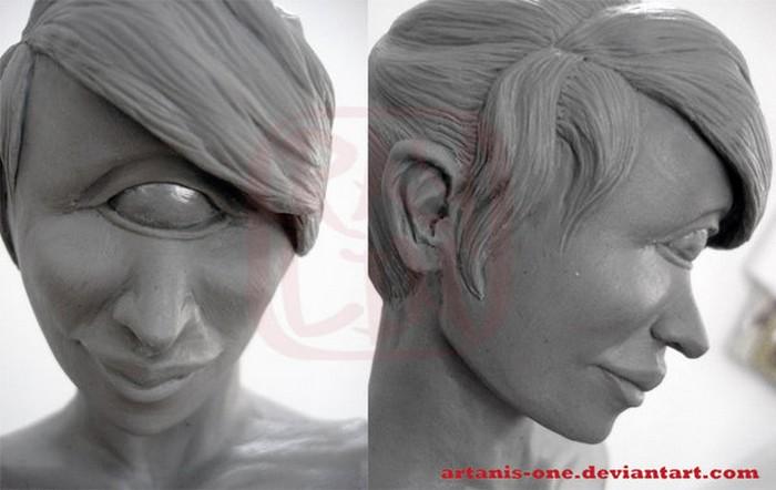 Глиняная Лила Туранга, дело рук скульптора Ray Lin