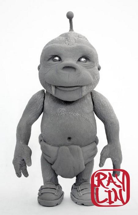Скульптура малыша Зубастика. Скульптура Ray Lin