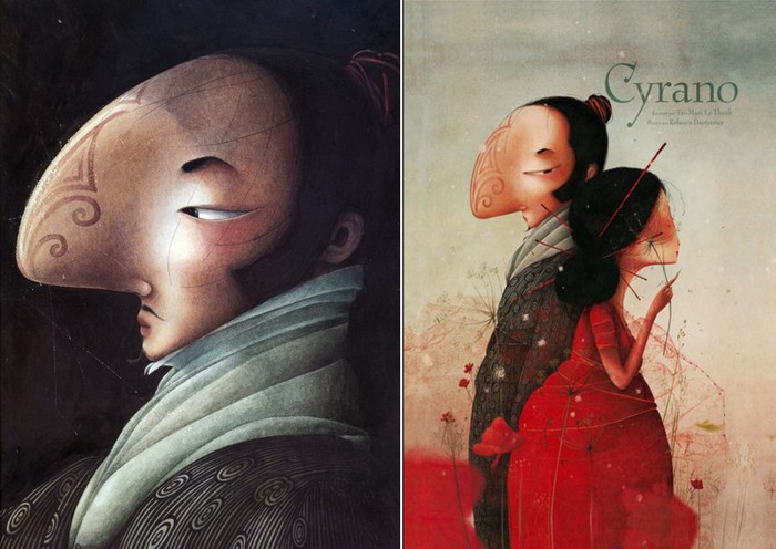 Иллюстрации к китайской версии *Сирано*