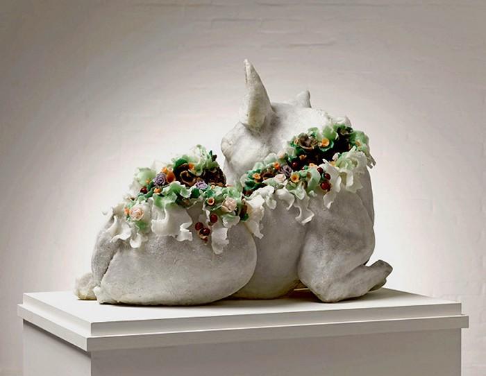 Цветы как символ страдания и смерти в экологических склуьптурах Ребекки Стивенсон (Rebecca Stevenson)