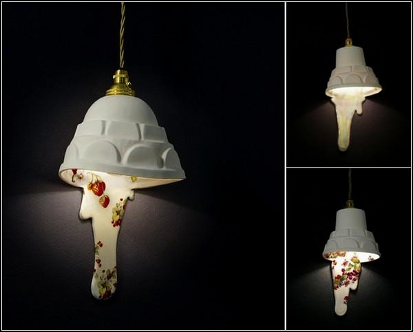 Подтаявшие керамические люстры из серии Light Spill