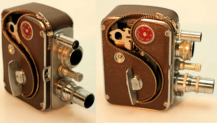 Ретро-камеры на застежках-молниях. Арт-проект Reconnecting Time