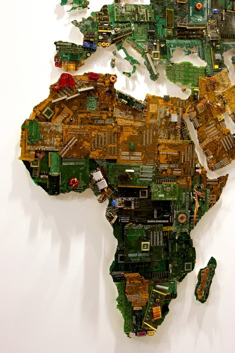 Африка, часть масштабной инсталляции World Map