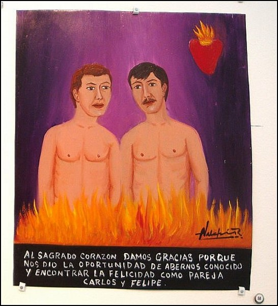 Карлос и Фелипе благодарят Святое Сердце за то, что встретились и полюбили друг друга