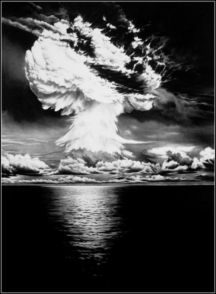 Пленительная мощь разрушительных взрывов. Бумага, уголь