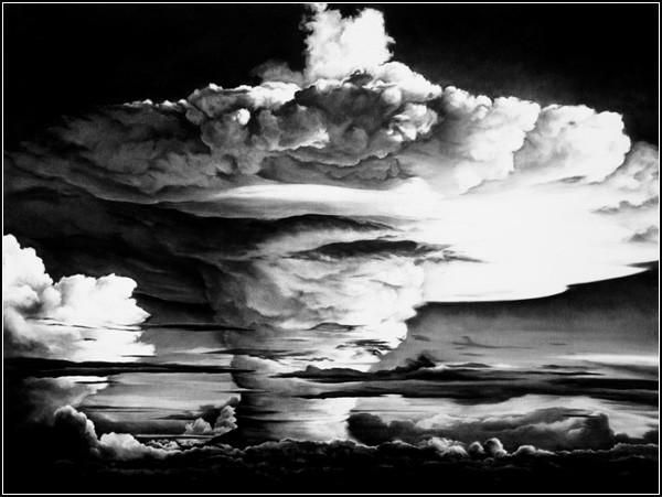 Демоническая красота ядерного взрыва. Рисунки Роберта Лонго (Robert Longo)