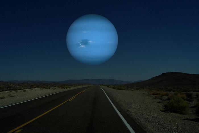 Нептун вместо Луны. Космический арт-проект Рона Миллера