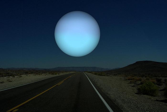 Уран вместо Луны. Космический арт-проект Рона Миллера