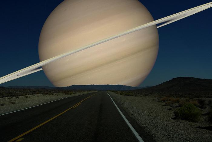 Сатурн вместо Луны. Космический арт-проект Рона Миллера