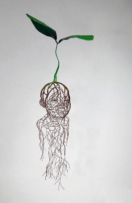 Drawn by Life. Серия скульптур от Kim Sun Hyuk