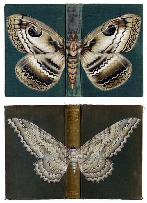 Насекомые, нарисованные на обложках книг
