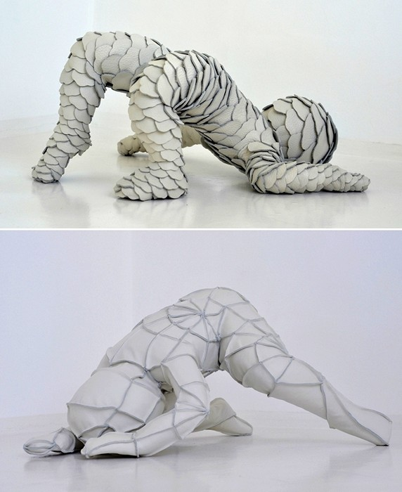 Младенцы из керамики и лоскутков кожи. Скульптуры Саби ван Хемерт (Sabi van Hemert)