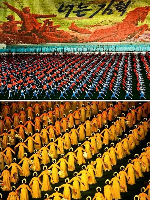 Искусство своими руками, ногами и головами. Фотографии северокорейских перфомансов Сэм Геллман (Sam Gellman)