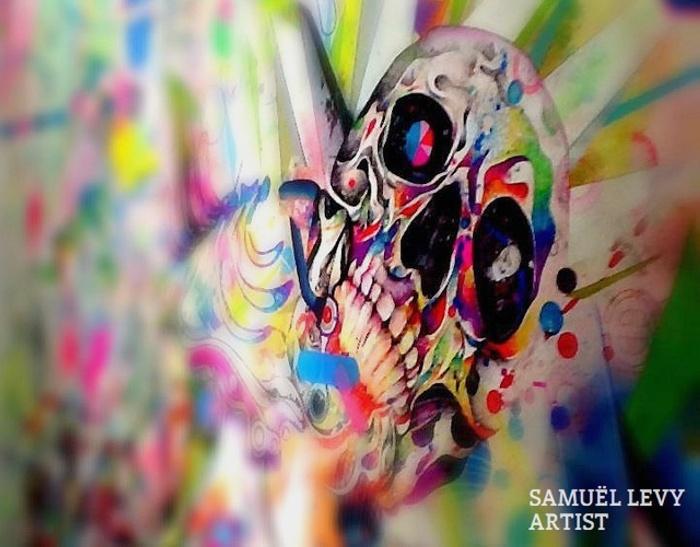 Рисунки шариковой ручкой Bic. Разноцветный психодел от Samuel Levy